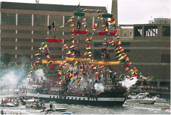 Gasparilla Pirate Ship Tampa FL Arrrg! Captain Morgan invades Panama 1/27/1671 photo