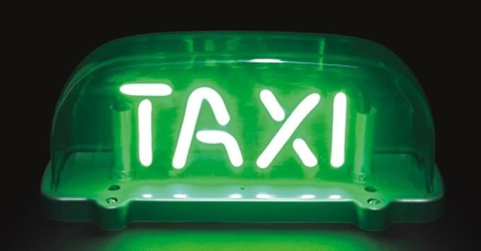 taxi cab sign St. Patricks Day Survival Kit photo