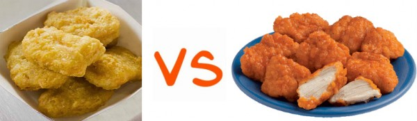 chicken nuggets vs. boneless wings 600x175 Are Boneless Buffalo Wings Really Wings? photo