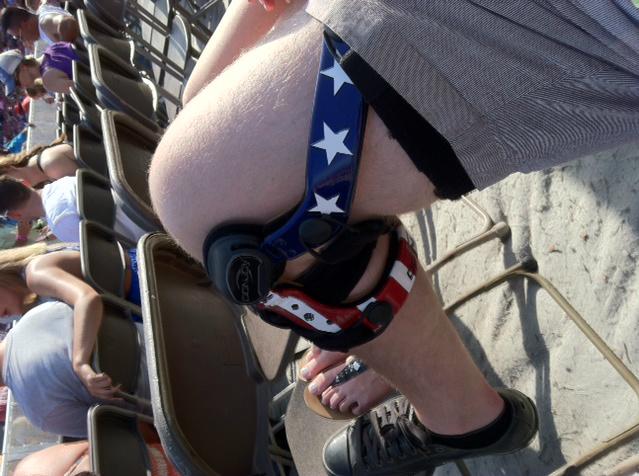 American Flag Knee Brace